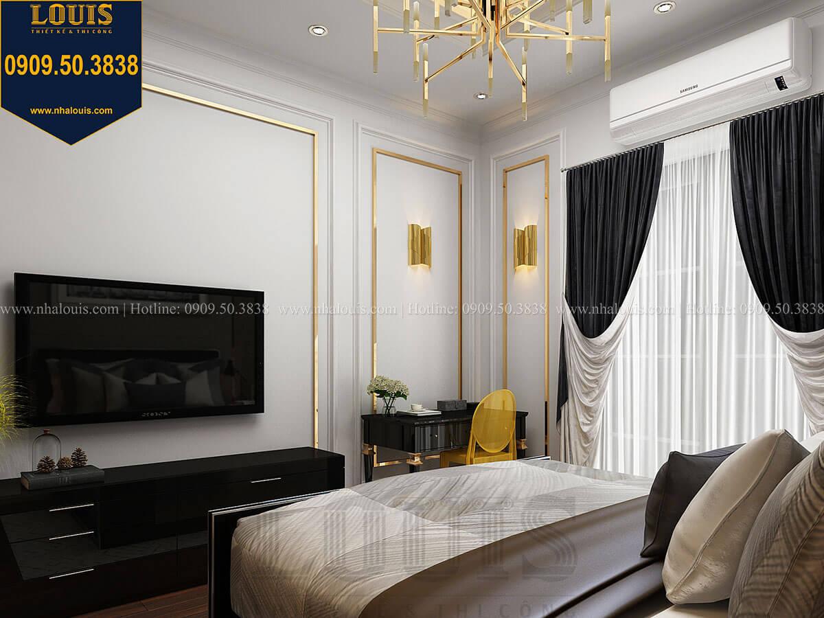 Phòng ngủ Thiết kế nhà phố tân cổ điển 5 tầng mặt tiền 3,5m tại Quận 6 - 26
