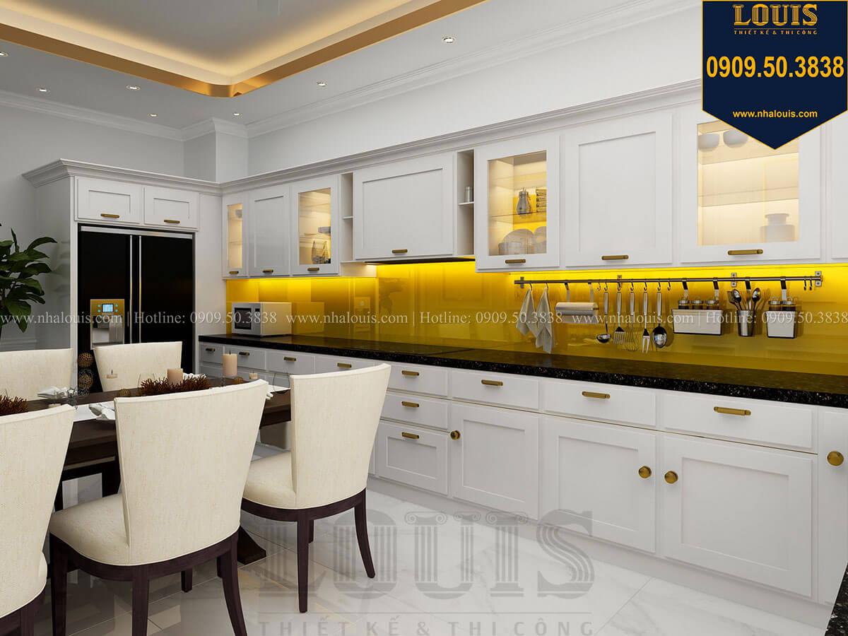 Phòng bếp Thiết kế nhà phố tân cổ điển 5 tầng mặt tiền 3,5m tại Quận 6 - 33