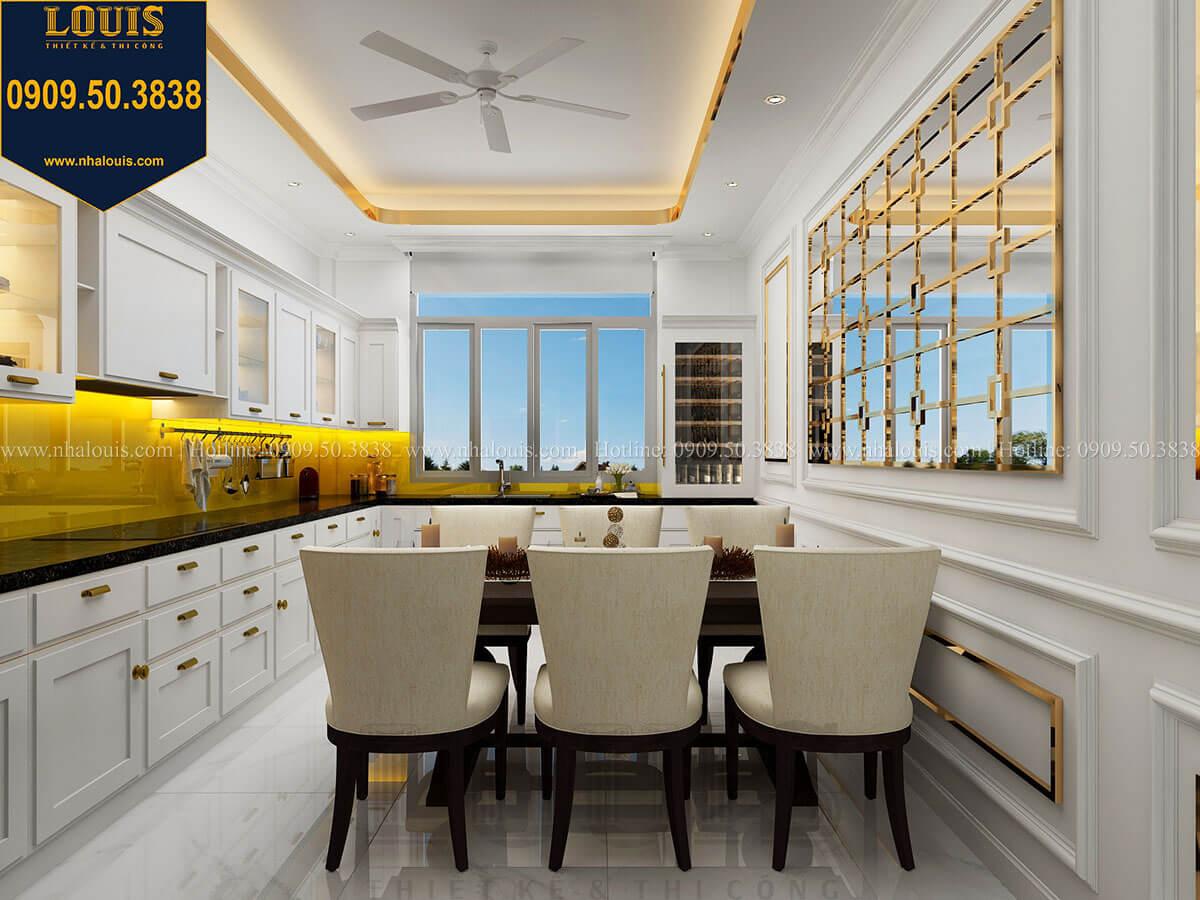 Phòng bếp Thiết kế nhà phố tân cổ điển 5 tầng mặt tiền 3,5m tại Quận 6 - 34