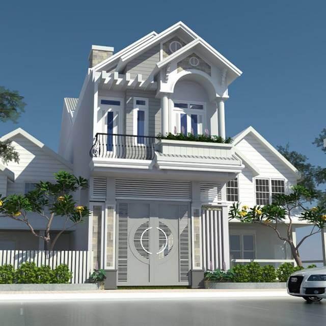 Xu hướng thiết kế mặt tiền cho mẫu biệt thự 2 tầng đẹp hiện đại