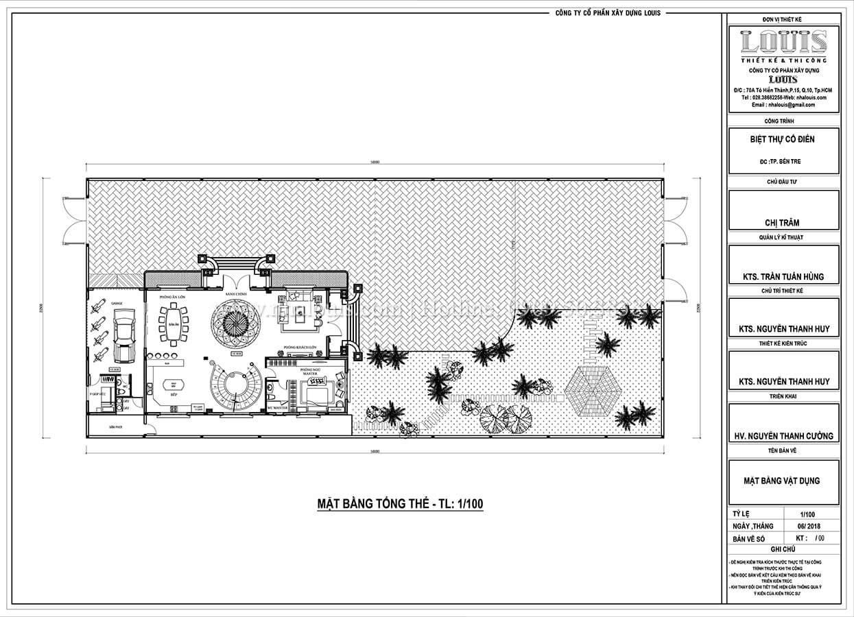 Mẫu biệt thự cổ điển 3 tầng 13.5 x 23m ở Bến Tre và vẻ đẹp cách tân sang trọng