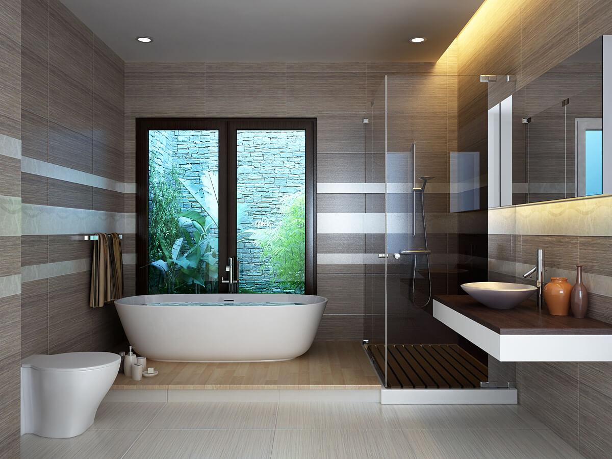 5 sai lầm khi thiết kế phòng tắm biệt thự hiện đại có tầng hầm đẹp
