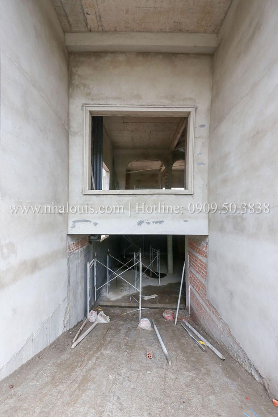 Thi công biệt thự hiện đại 3 tầng có tầng hầm đẹp tại Nhà Bè