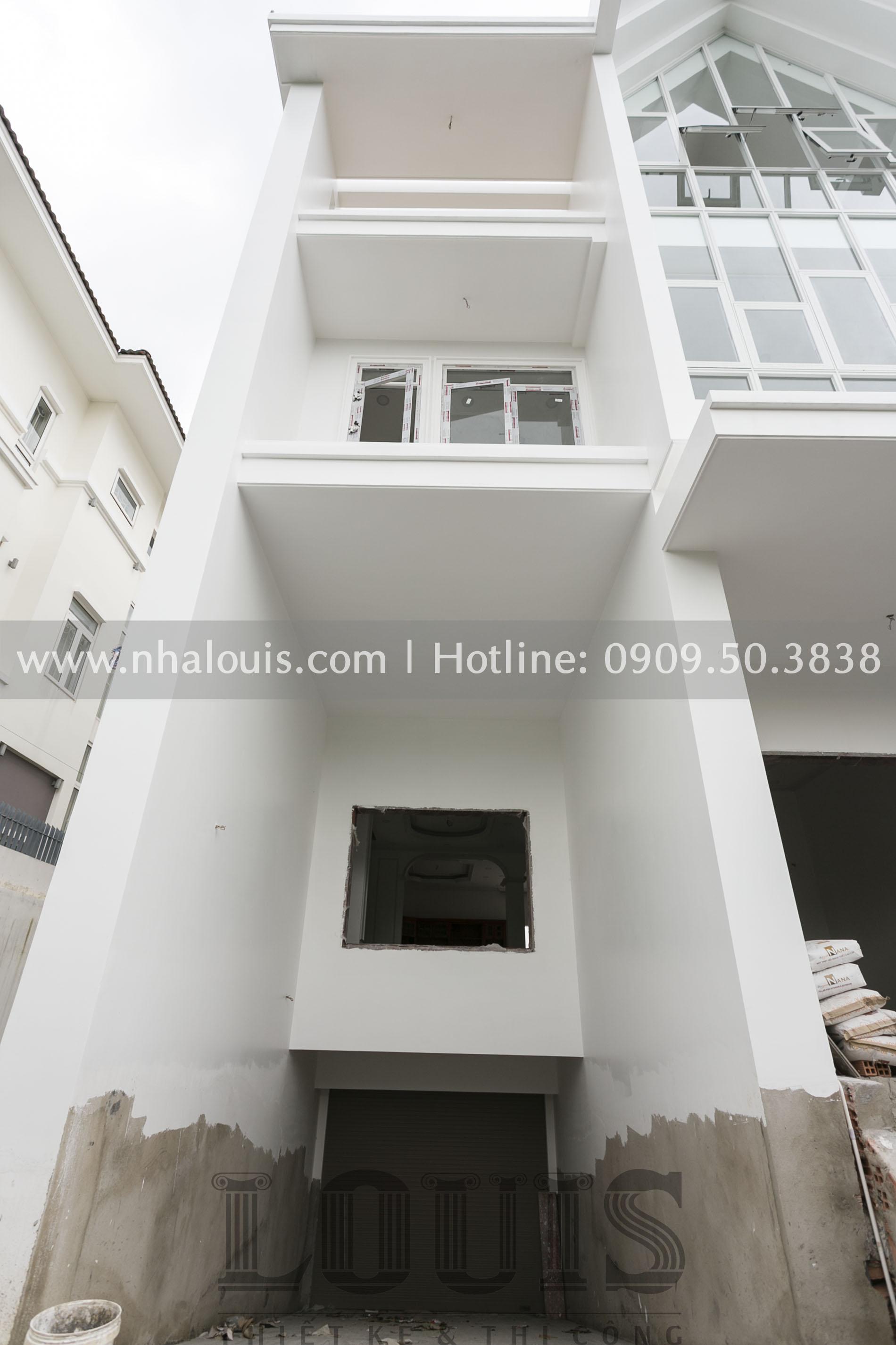 Thi công, lắp đặt các hạng mục hoàn thiện biệt thự hiện đại 3 tầng tại Nhà Bè