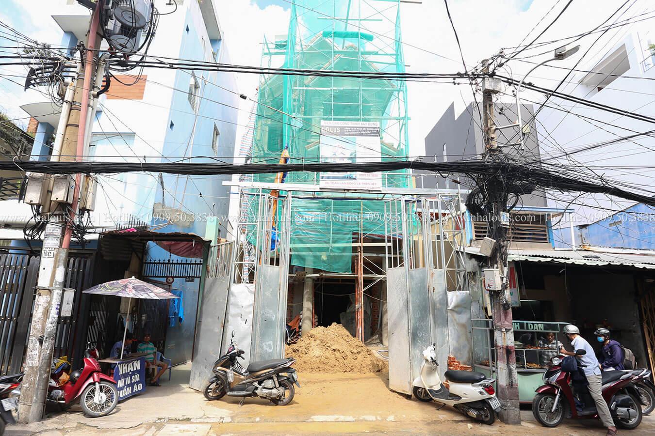 Thi công mẫu nhà tân cổ điển 4 tầng đẹp tại Tân Bình