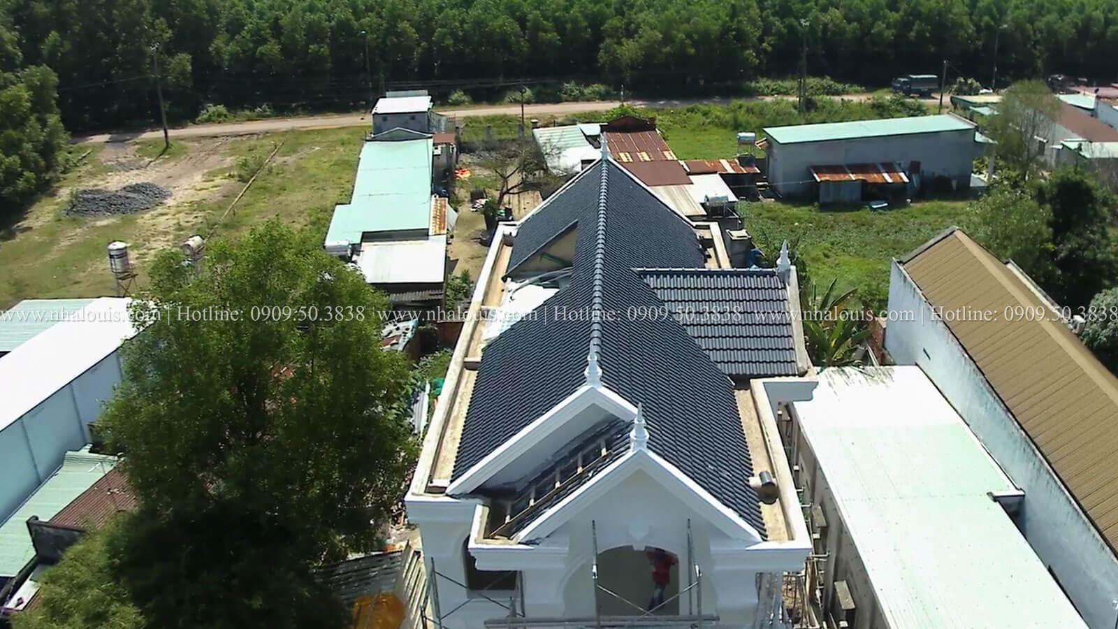Thi công mẫu thiết kế biệt thự 3 tầng đẹp có sân vườn tại Đồng Nai
