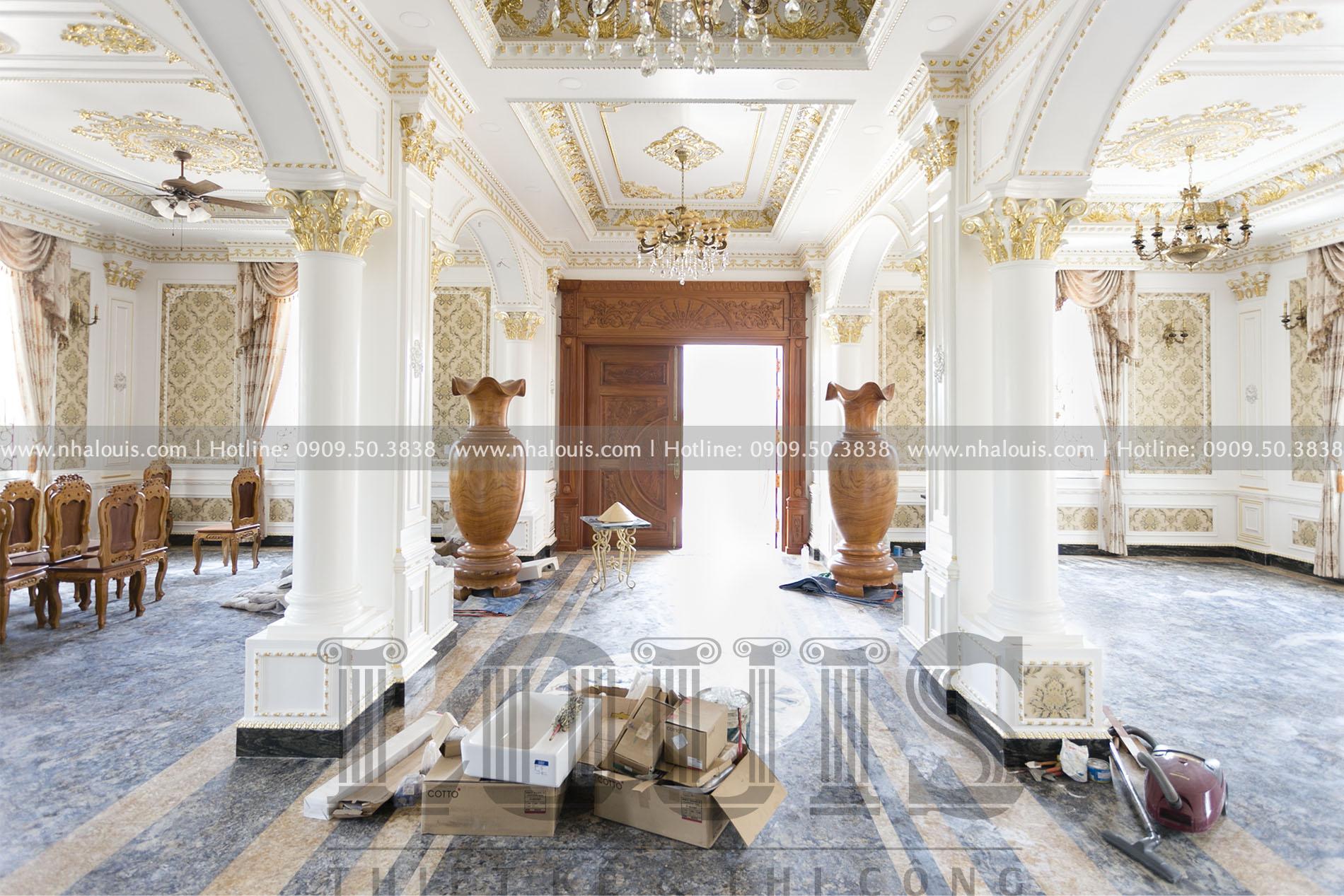 Lắp đặt hoàn thiện nội thất biệt thự cổ điển 2 tầng đẳng cấp ở Tây Ninh