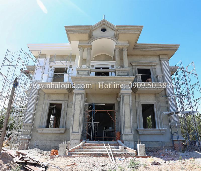 Thi công mẫu thiết kế biệt thự cổ điển 2 tầng đẳng cấp ở Tây Ninh