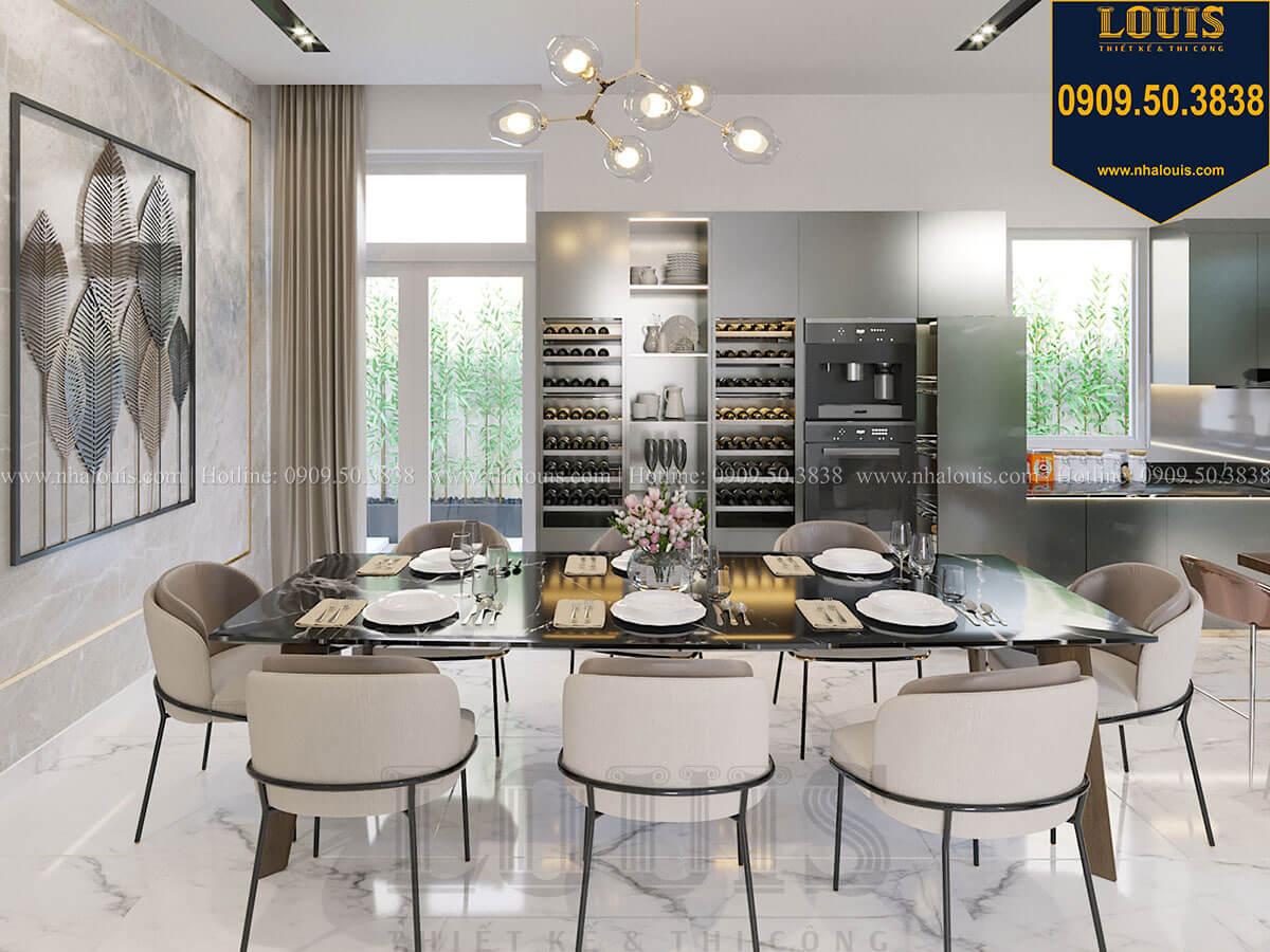 Bếp và phòng ăn Thiết kế biệt thự 3 tầng hiện đại mặt tiền 10m tại Cần Thơ - 16
