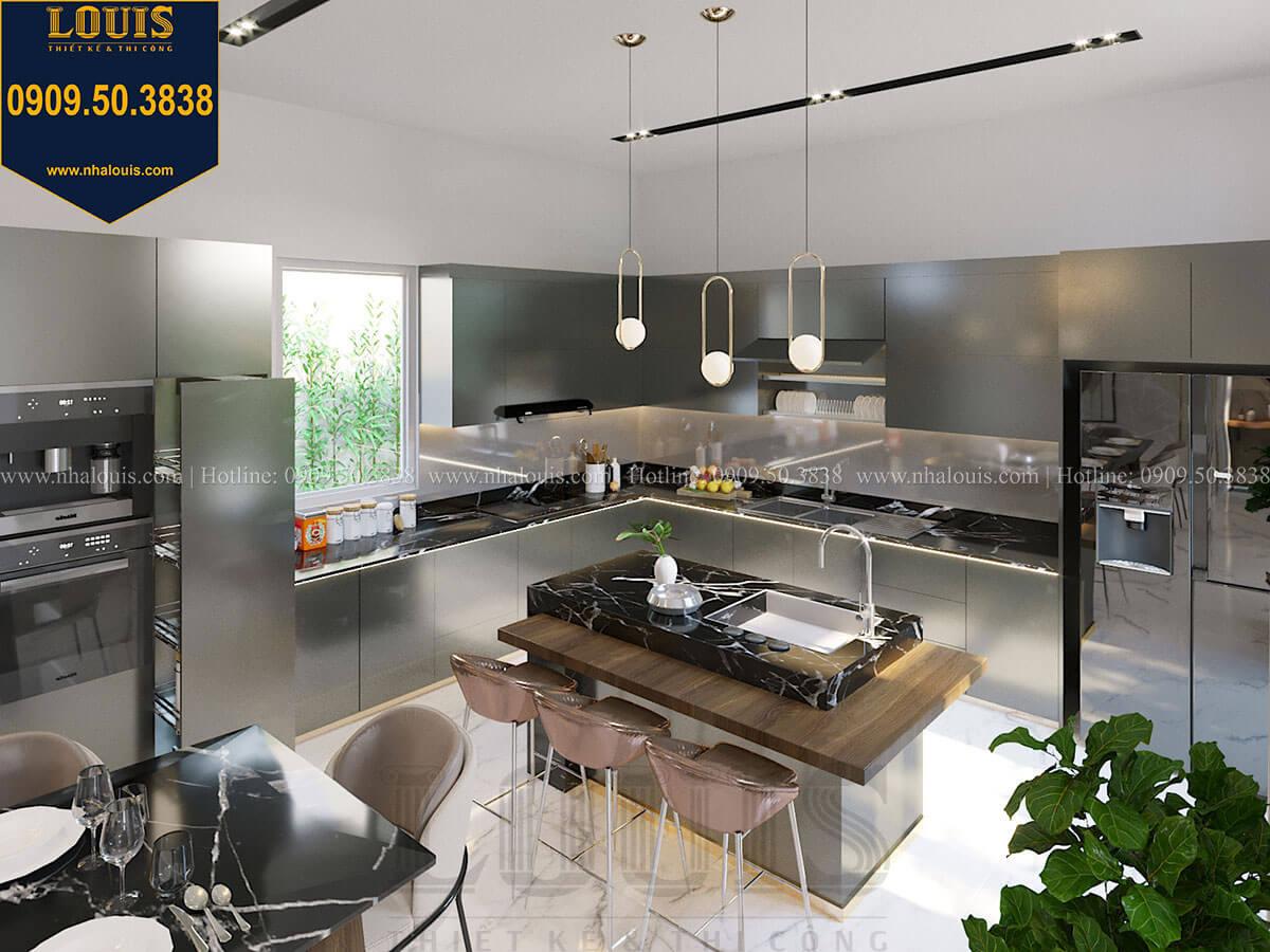 Bếp và phòng ăn Thiết kế biệt thự 3 tầng hiện đại mặt tiền 10m tại Cần Thơ - 17