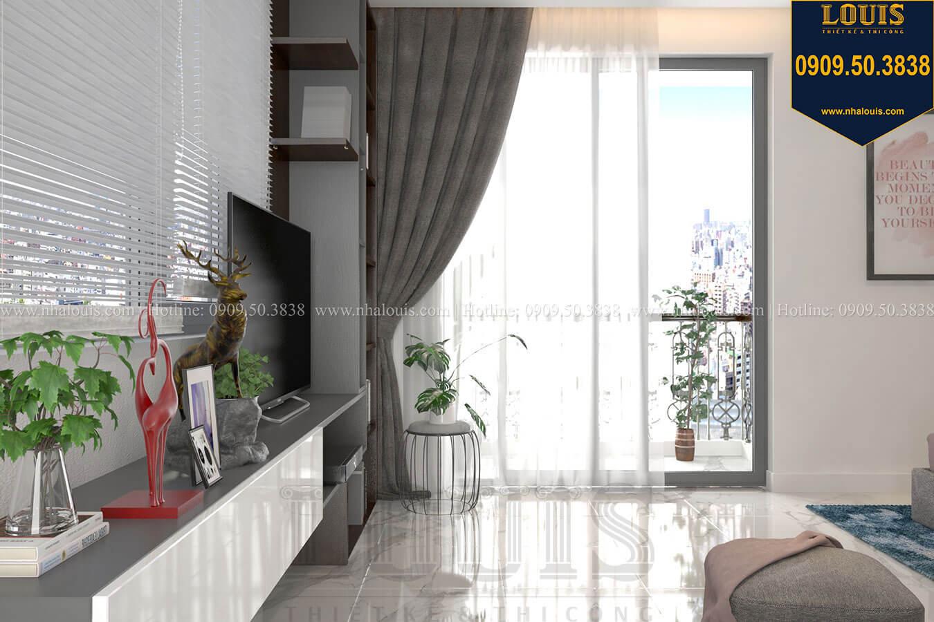 Phòng ngủ Thiết kế biệt thự 3 tầng hiện đại mặt tiền 10m tại Cần Thơ - 20