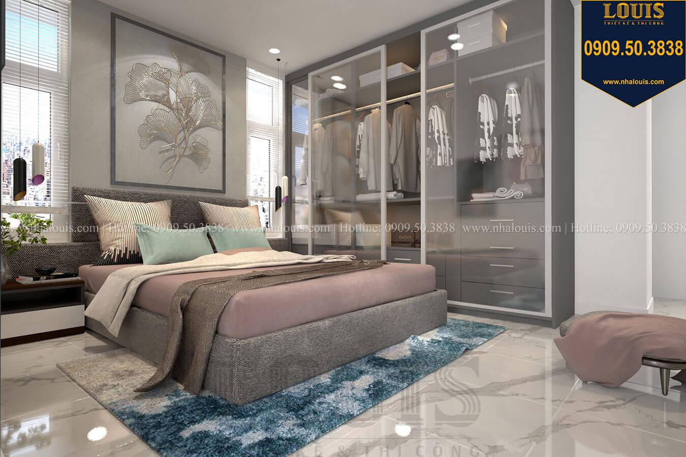 Phòng ngủ Thiết kế biệt thự 3 tầng hiện đại mặt tiền 10m tại Cần Thơ - 21