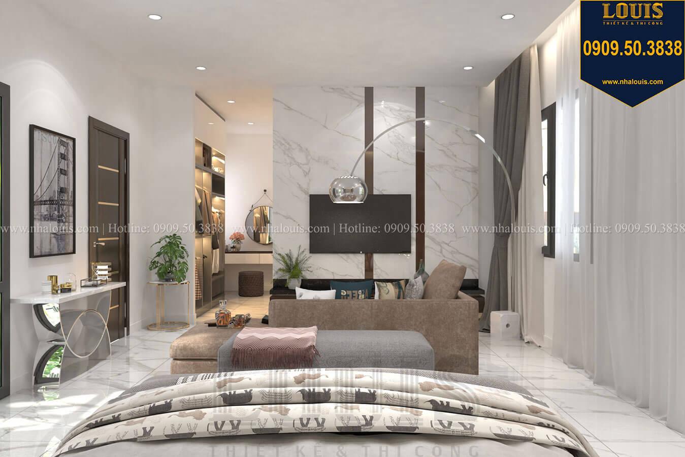 Phòng ngủ master Thiết kế biệt thự 3 tầng hiện đại mặt tiền 10m tại Cần Thơ - 22