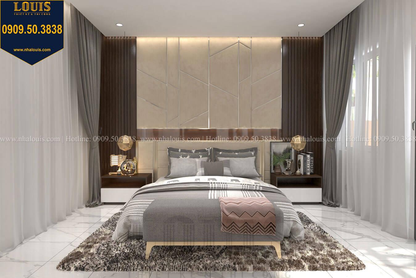 Phòng ngủ master Thiết kế biệt thự 3 tầng hiện đại mặt tiền 10m tại Cần Thơ - 23