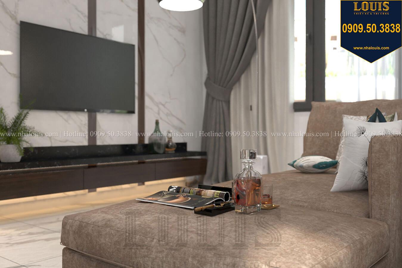 Phòng ngủ master Thiết kế biệt thự 3 tầng hiện đại mặt tiền 10m tại Cần Thơ - 24