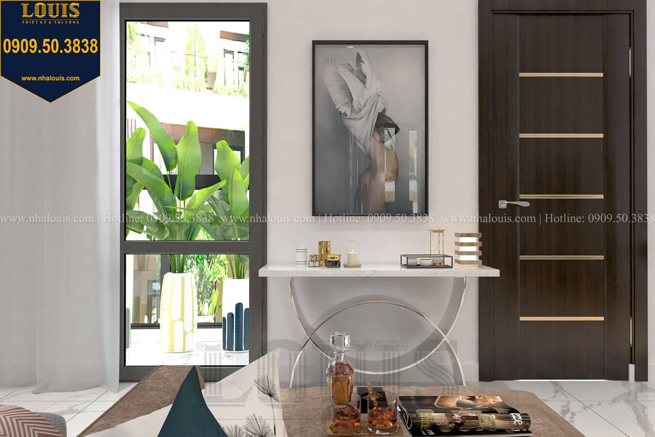 Phòng ngủ master Thiết kế biệt thự 3 tầng hiện đại mặt tiền 10m tại Cần Thơ - 25