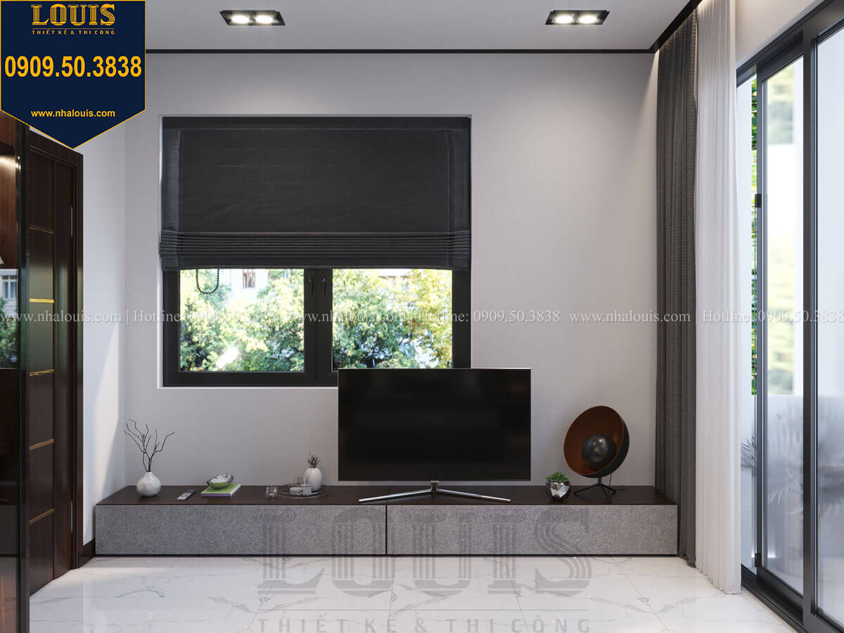 Phòng ngủ Thiết kế biệt thự 3 tầng hiện đại mặt tiền 10m tại Cần Thơ - 32