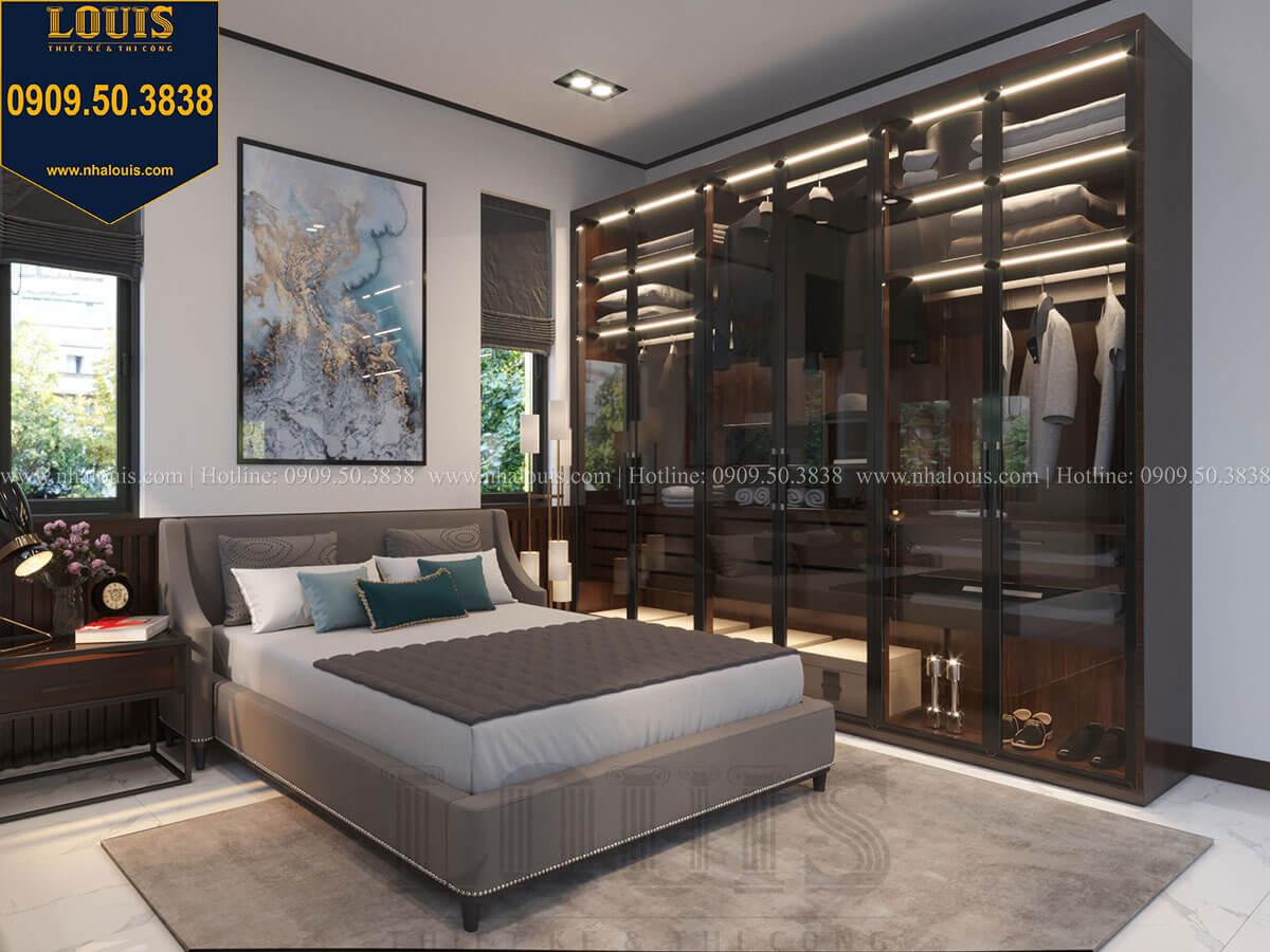 Phòng ngủ Thiết kế biệt thự 3 tầng hiện đại mặt tiền 10m tại Cần Thơ - 33