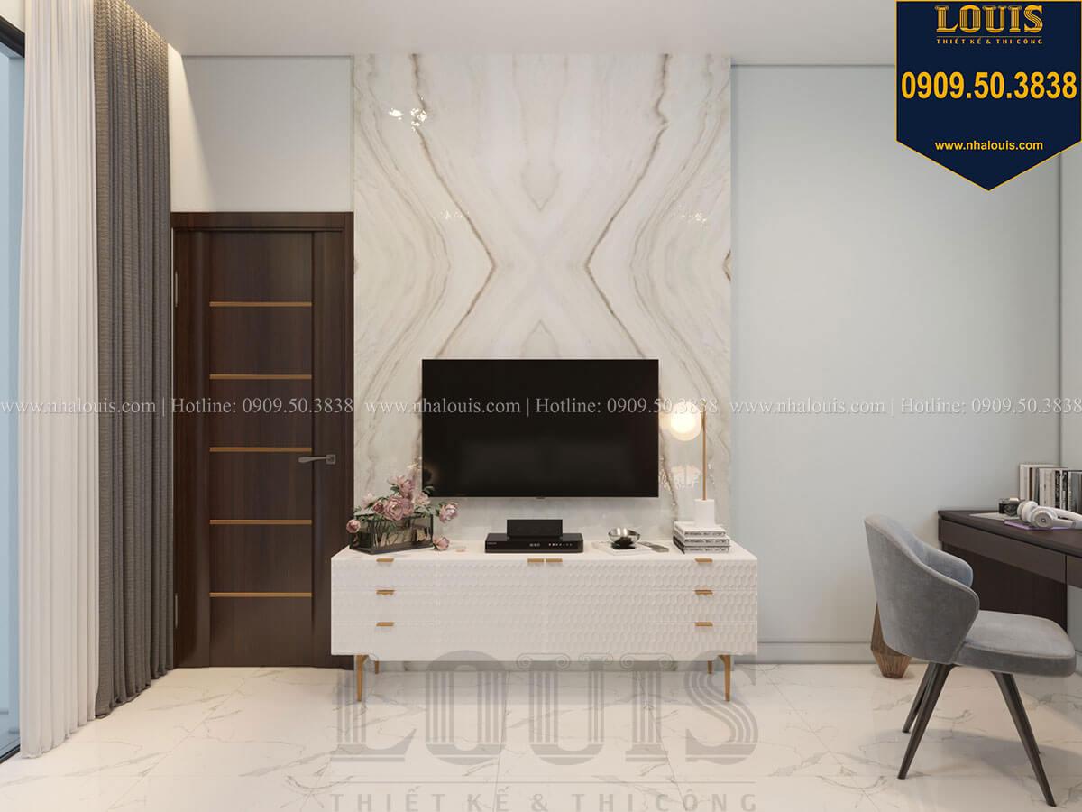 Phòng ngủ Thiết kế biệt thự 3 tầng hiện đại mặt tiền 10m tại Cần Thơ - 34