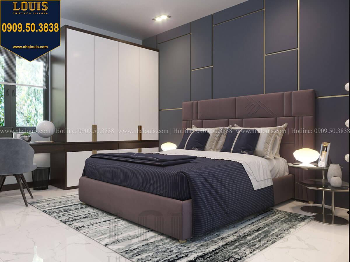 Phòng ngủ Thiết kế biệt thự 3 tầng hiện đại mặt tiền 10m tại Cần Thơ - 37