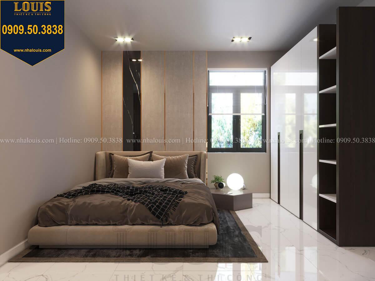 Phòng ngủ Thiết kế biệt thự 3 tầng hiện đại mặt tiền 10m tại Cần Thơ - 39