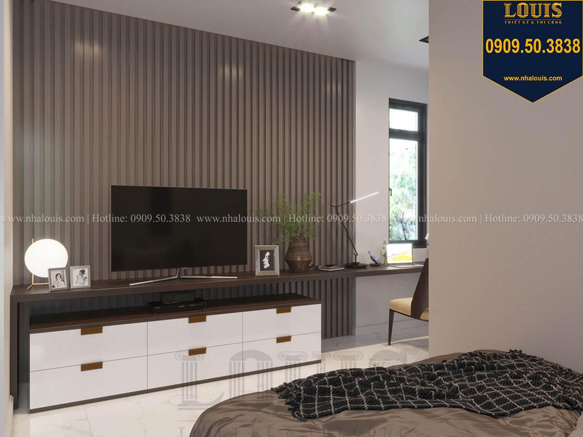 Phòng ngủ Thiết kế biệt thự 3 tầng hiện đại mặt tiền 10m tại Cần Thơ - 40