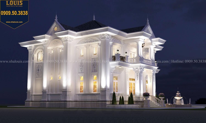 Mặt tiền Thiết kế biệt thự cổ điển 2 tầng nguy nga và đẳng cấp tại Tây Ninh - 19
