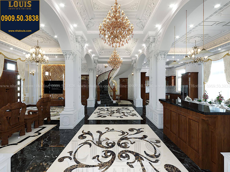 Sảnh Thiết kế biệt thự cổ điển 2 tầng nguy nga và đẳng cấp tại Tây Ninh - 20