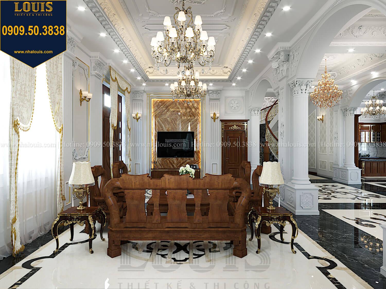 Phòng khách Thiết kế biệt thự cổ điển 2 tầng nguy nga và đẳng cấp tại Tây Ninh - 22