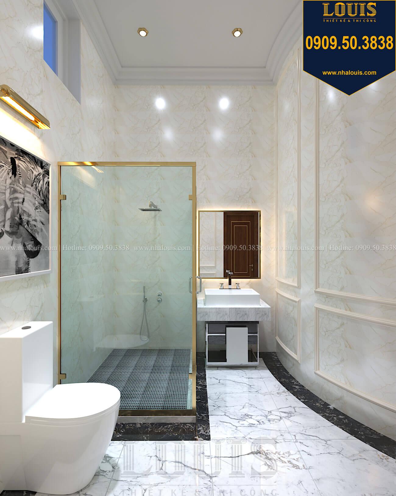 phòng tắm và WC Thiết kế biệt thự cổ điển 2 tầng nguy nga và đẳng cấp tại Tây Ninh - 34