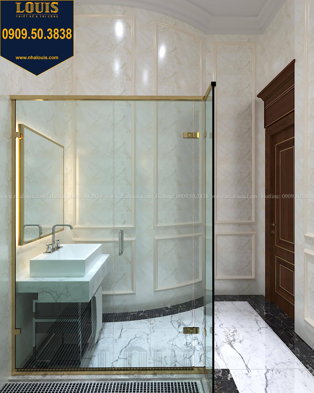 phòng tắm và WC Thiết kế biệt thự cổ điển 2 tầng nguy nga và đẳng cấp tại Tây Ninh - 35