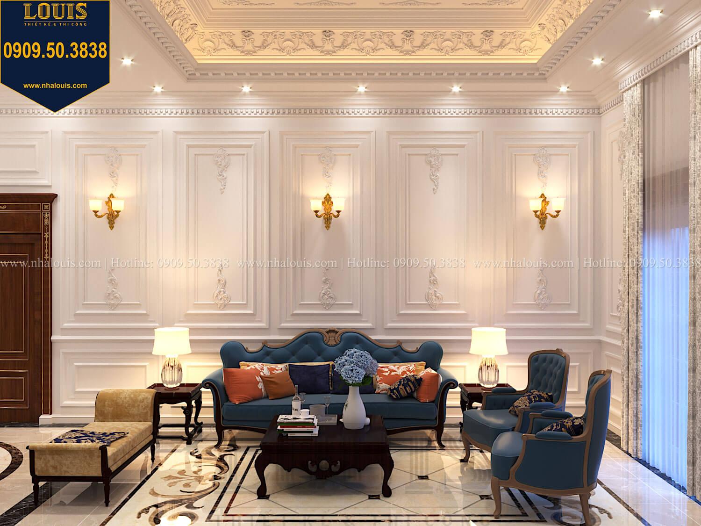 Phòng sinh hoạt chung Thiết kế biệt thự cổ điển 2 tầng nguy nga và đẳng cấp tại Tây Ninh - 40