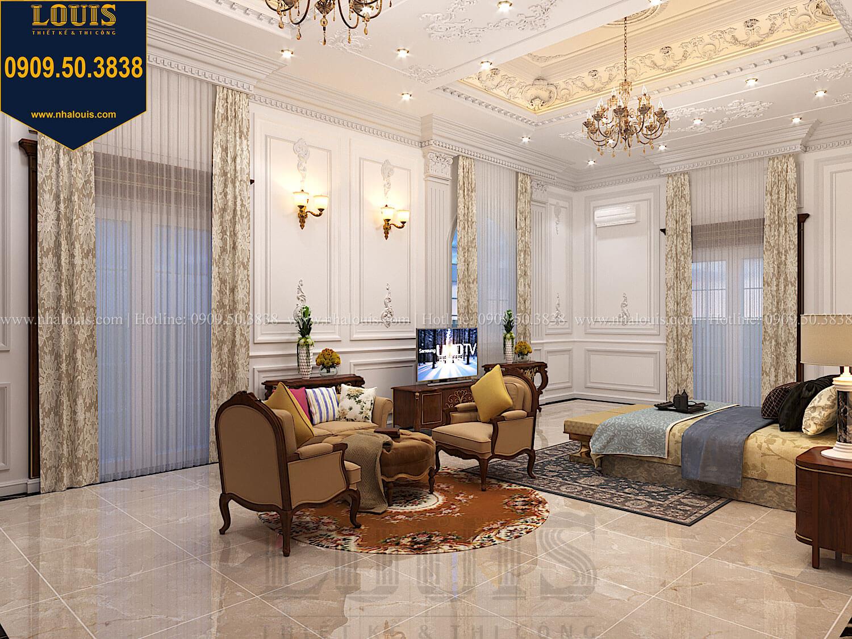 Phòng ngủ masterThiết kế biệt thự cổ điển 2 tầng nguy nga và đẳng cấp tại Tây Ninh - 48