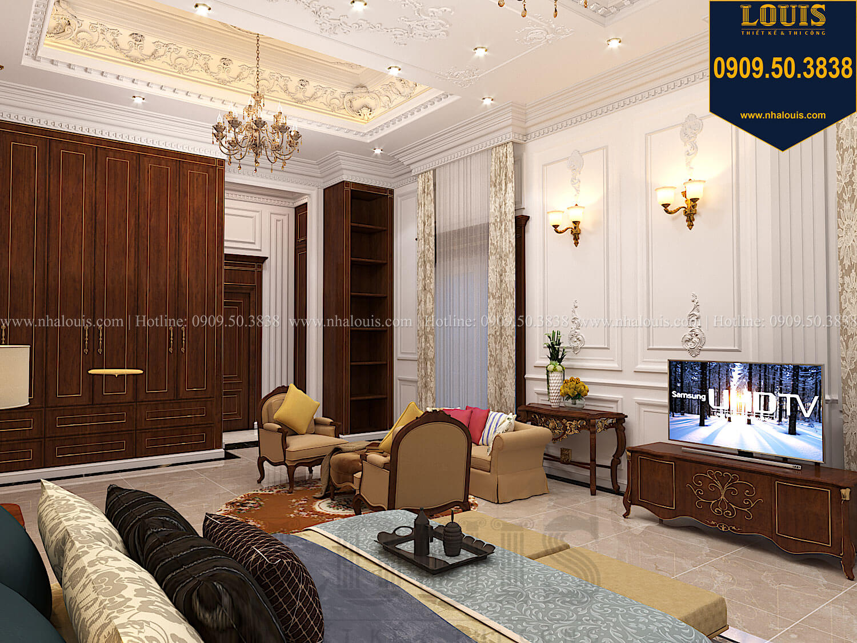 Phòng ngủ masterThiết kế biệt thự cổ điển 2 tầng nguy nga và đẳng cấp tại Tây Ninh - 49