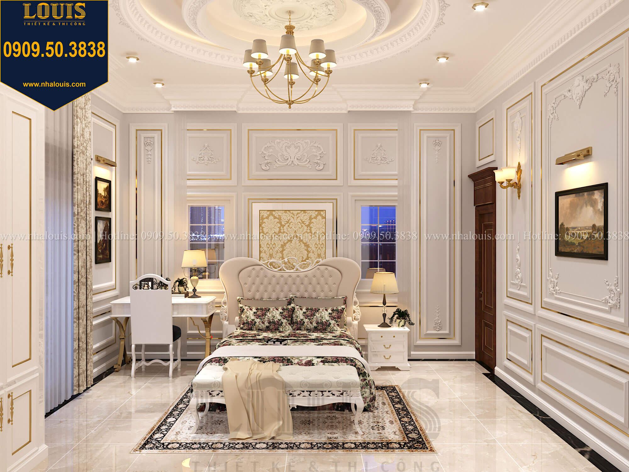 Phòng ngủ con gái Thiết kế biệt thự cổ điển 2 tầng nguy nga và đẳng cấp tại Tây Ninh - 55