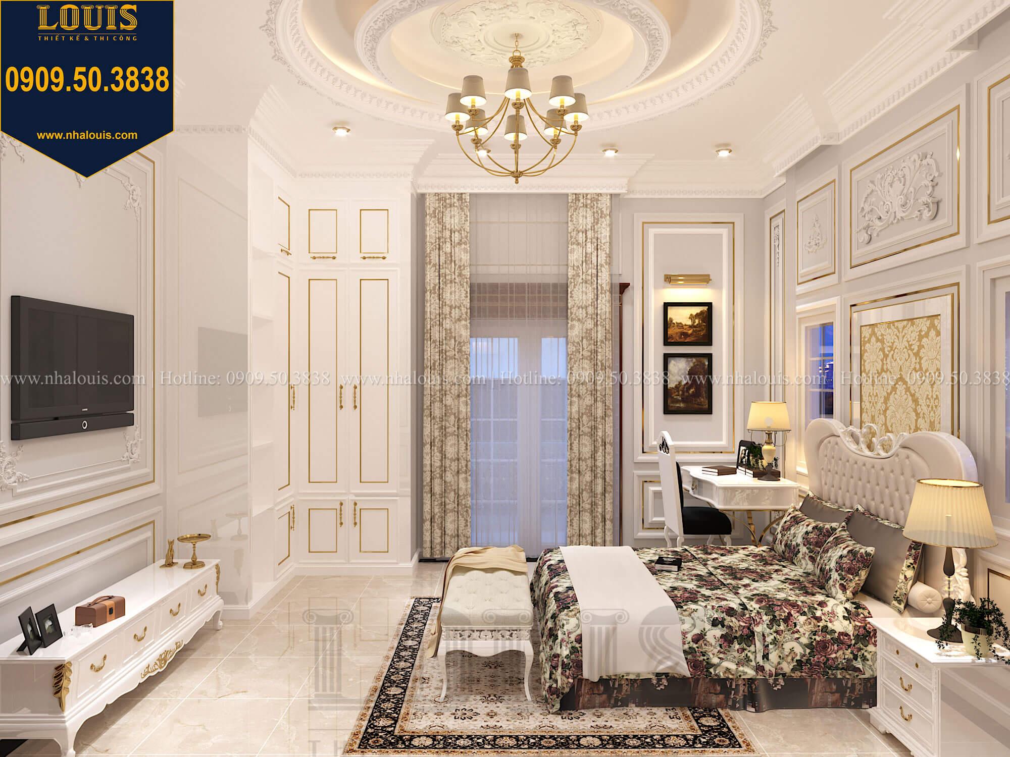 Phòng ngủ con gái Thiết kế biệt thự cổ điển 2 tầng nguy nga và đẳng cấp tại Tây Ninh - 57