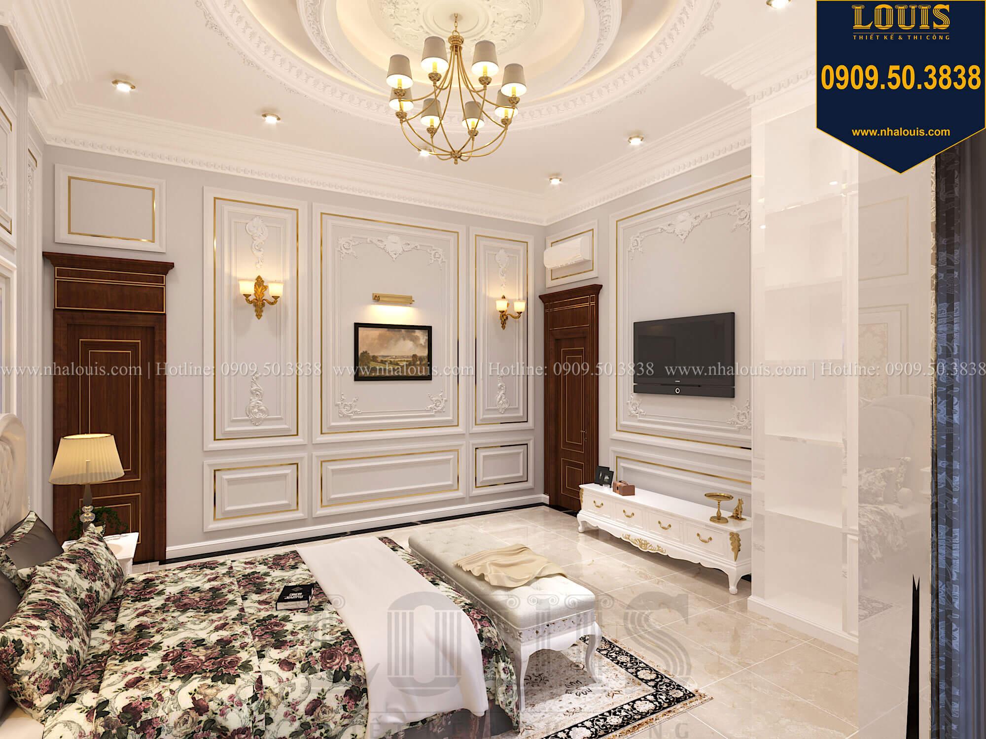 Phòng ngủ con gái Thiết kế biệt thự cổ điển 2 tầng nguy nga và đẳng cấp tại Tây Ninh - 59