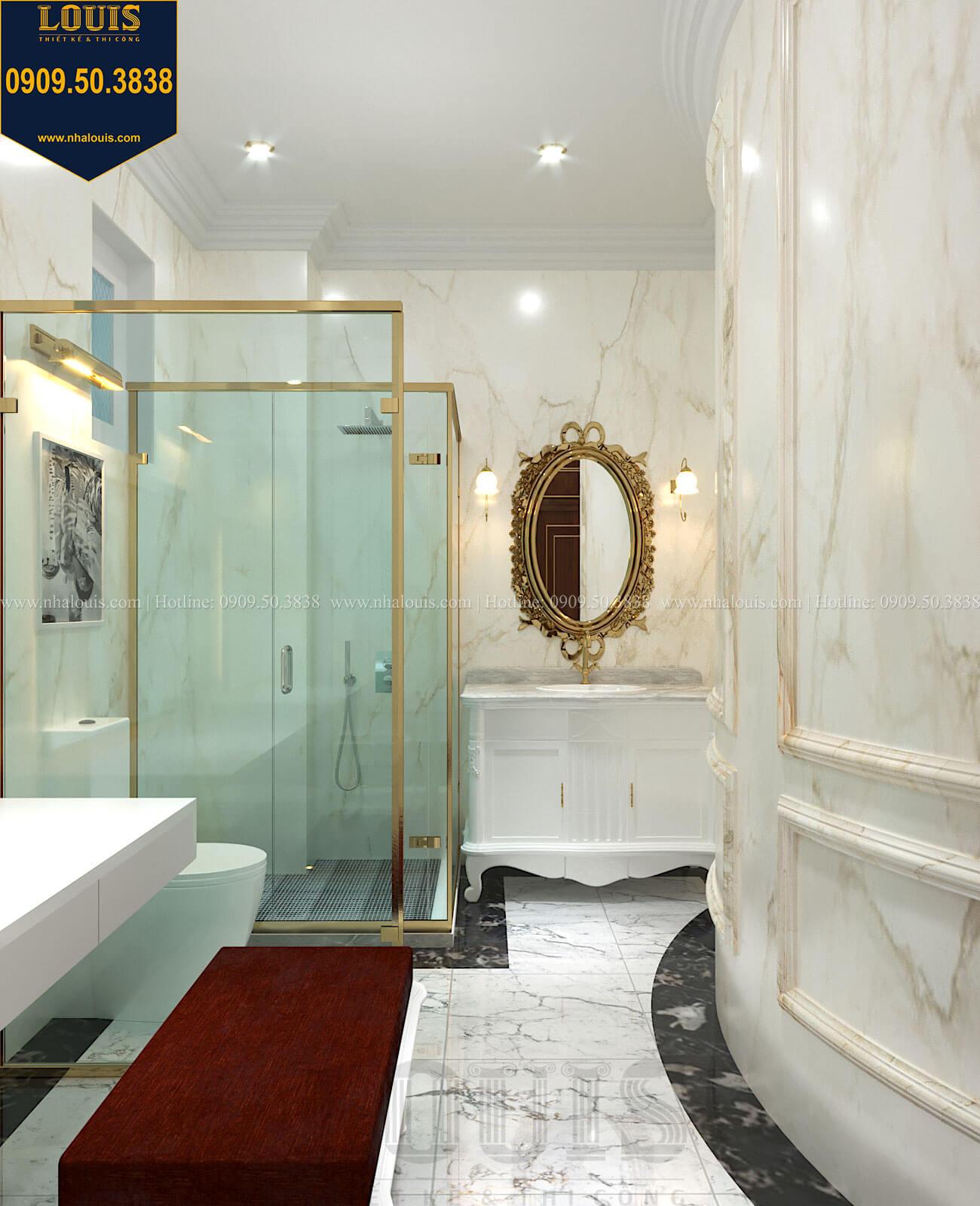 Phòng tắm và WC con gái Thiết kế biệt thự cổ điển 2 tầng nguy nga và đẳng cấp tại Tây Ninh - 60