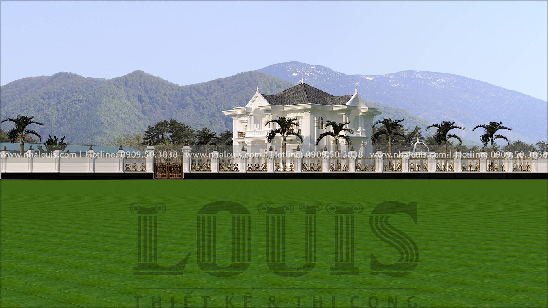 thiết kế hàng rào biệt thự cổ điển