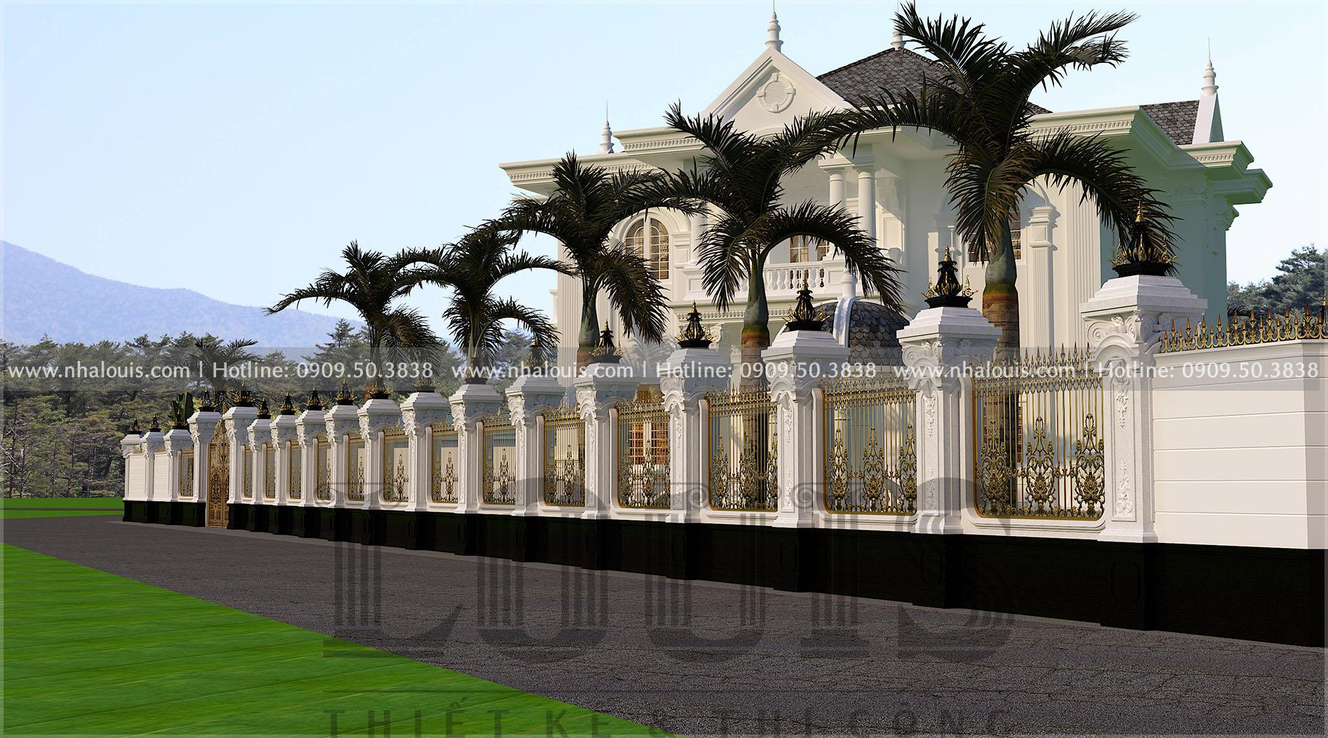 cổng rào biệt thự sang trọng