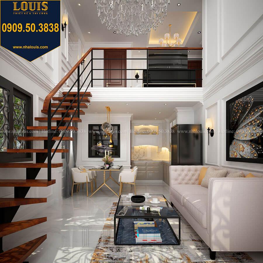 Phòng khách Thiết kế nhà phố tân cổ điển 5 tầng chuẩn sang trọng để cho thuê tại Quận 2 - 08