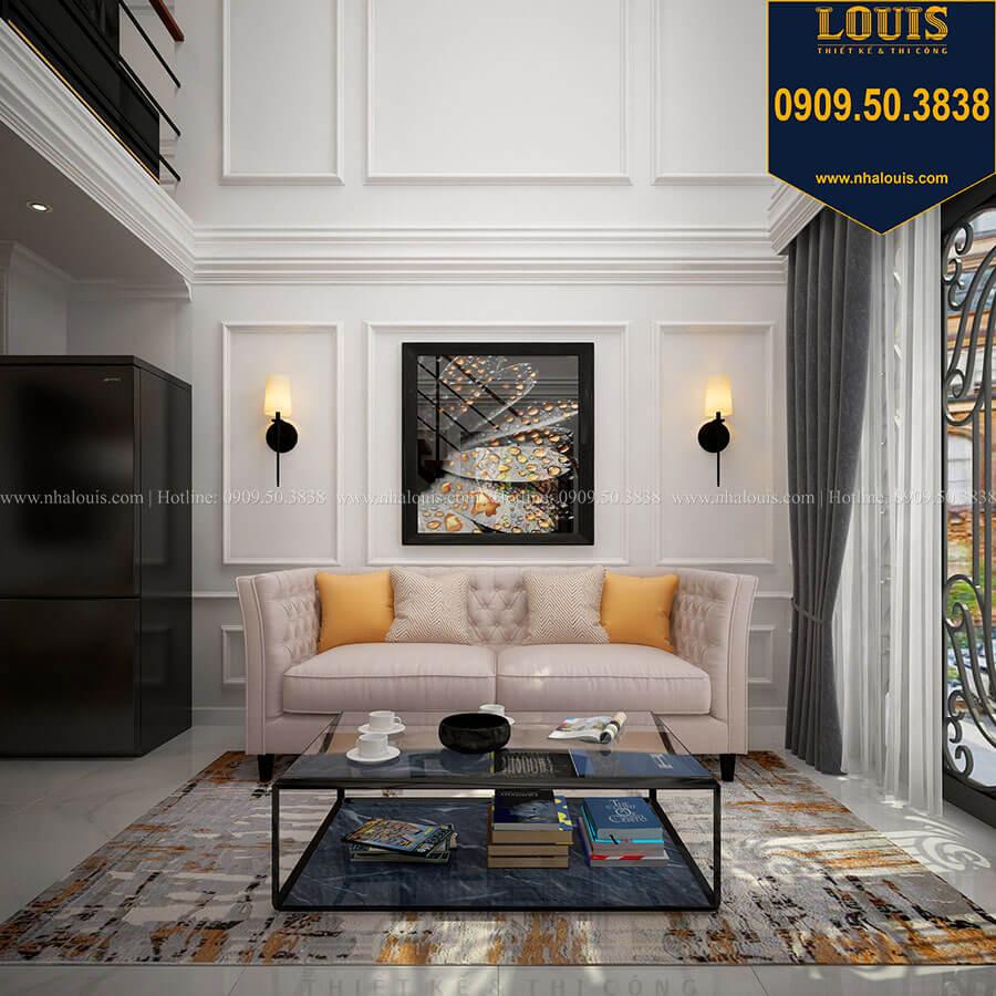 Phòng khách Thiết kế nhà phố tân cổ điển 5 tầng chuẩn sang trọng để cho thuê tại Quận 2 - 09