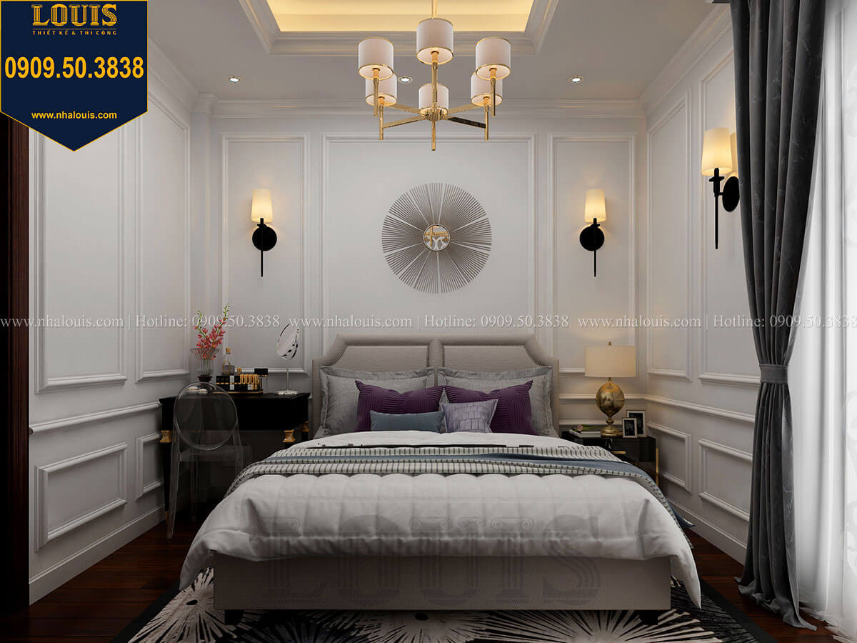 Phòng ngủ Thiết kế nhà phố tân cổ điển 5 tầng chuẩn sang trọng để cho thuê tại Quận 2 - 21