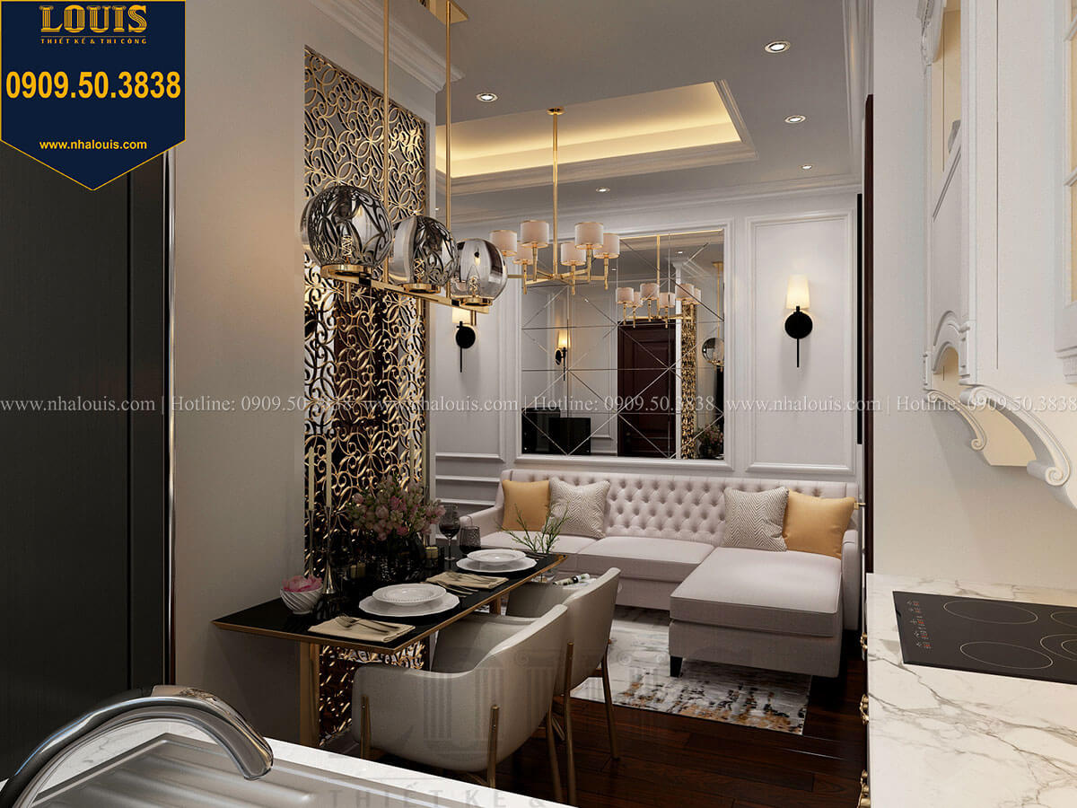 Phòng khách Thiết kế nhà phố tân cổ điển 5 tầng chuẩn sang trọng để cho thuê tại Quận 2 - 25