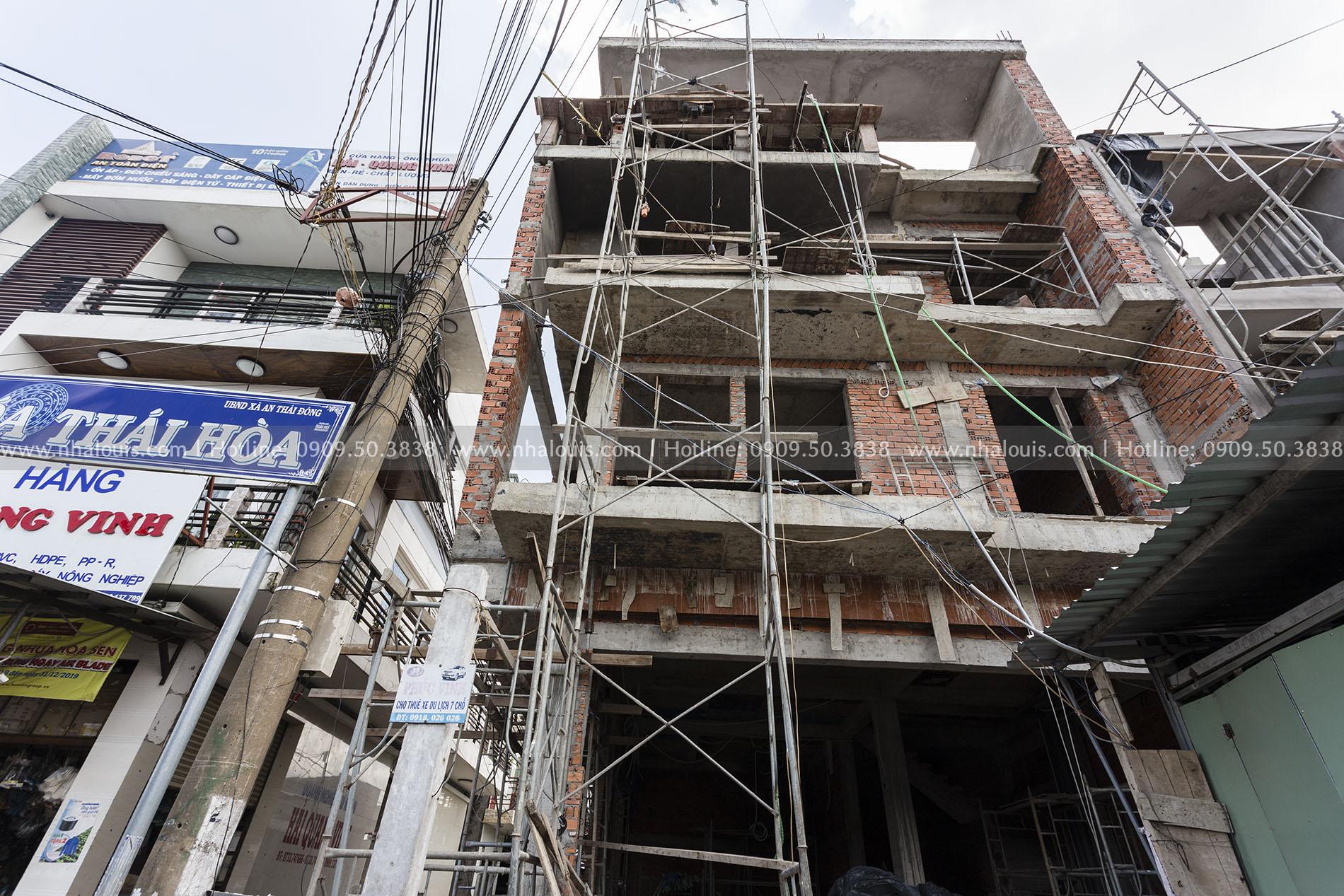 Mẫu biệt thự 3 tầng hiện đại 2 mặt tiền hoành tráng tại Tiền Giang
