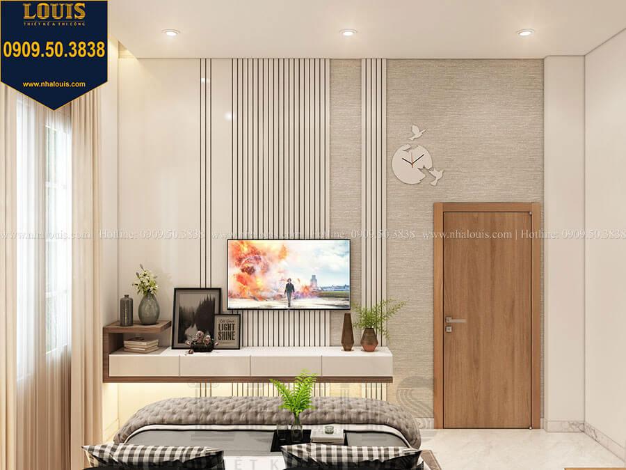 Phòng ngủ master Mẫu biệt thự hiện đại 2 tầng mái Thái sang trọng tại Đồng Nai