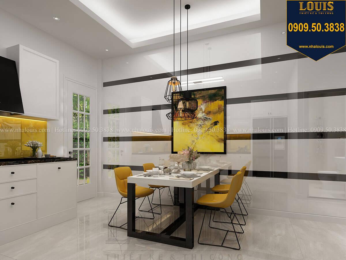 Bếp và phòng ăn Mẫu nhà phố 3 tầng hiện đại với 2 mặt tiền tại Tân Phú - 15