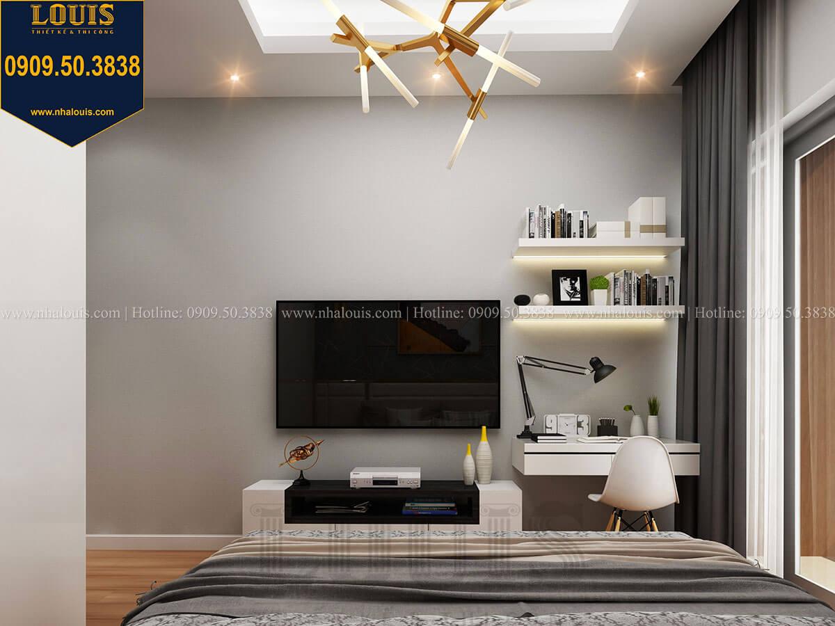 Phòng ngủ Mẫu nhà phố 3 tầng hiện đại với 2 mặt tiền tại Tân Phú - 19