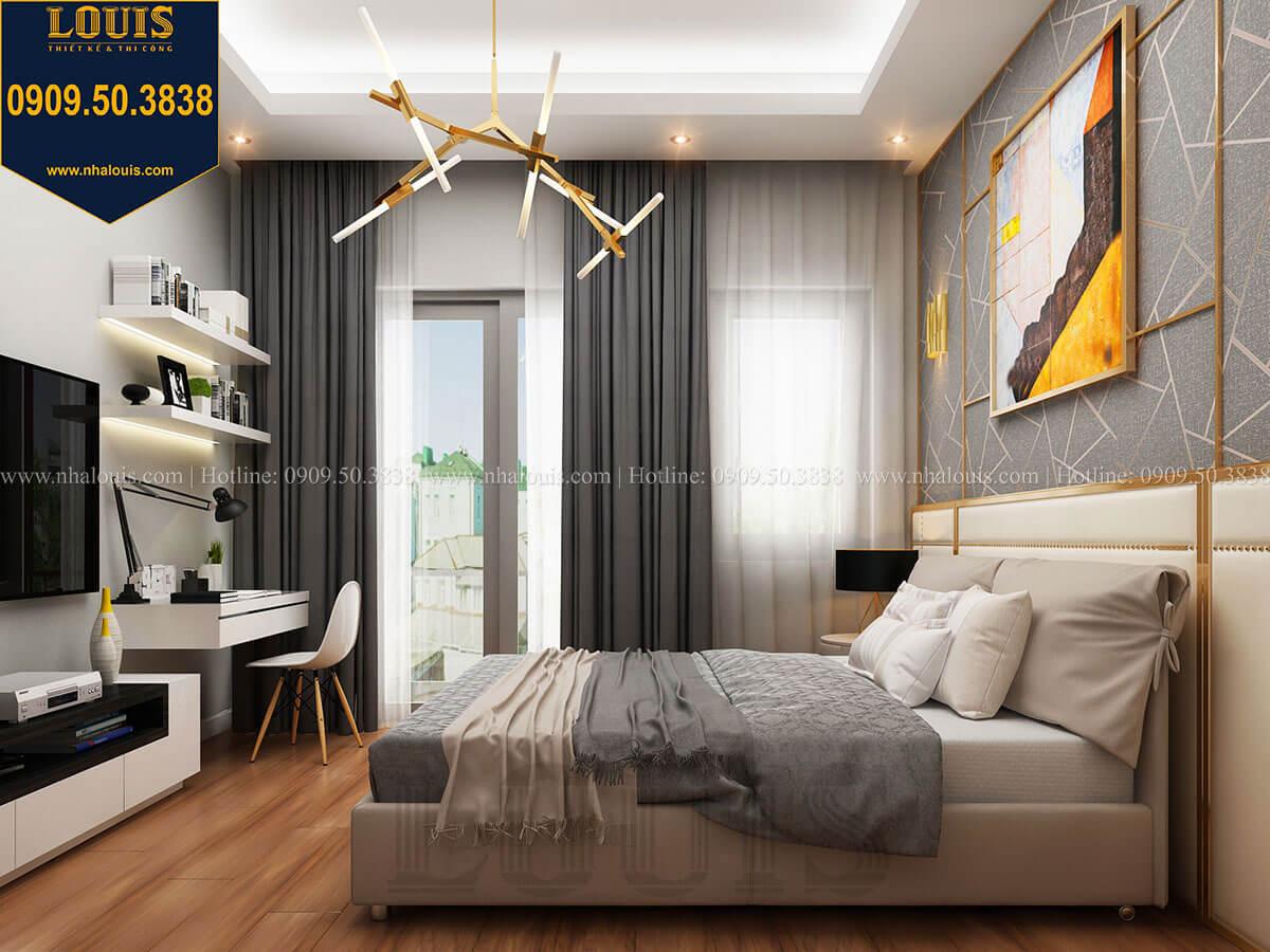 Phòng ngủ Mẫu nhà phố 3 tầng hiện đại với 2 mặt tiền tại Tân Phú - 21