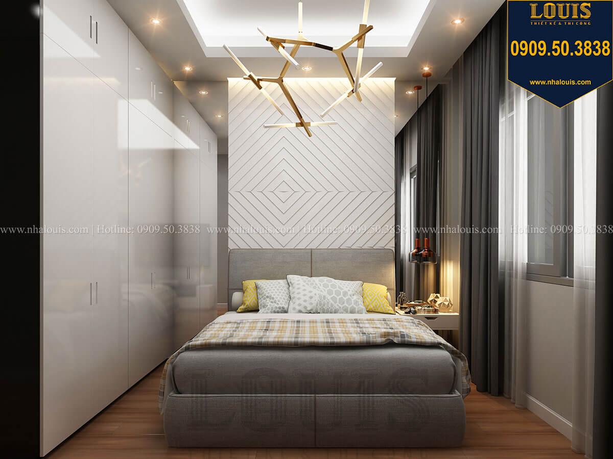 Phòng ngủ Mẫu nhà phố 3 tầng hiện đại với 2 mặt tiền tại Tân Phú - 24